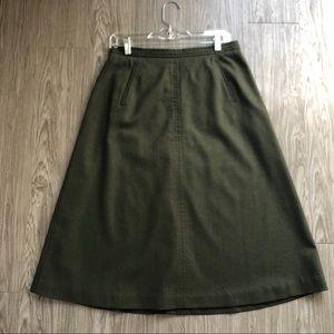 Talbots Wool Green Skirt, 10 Petite
